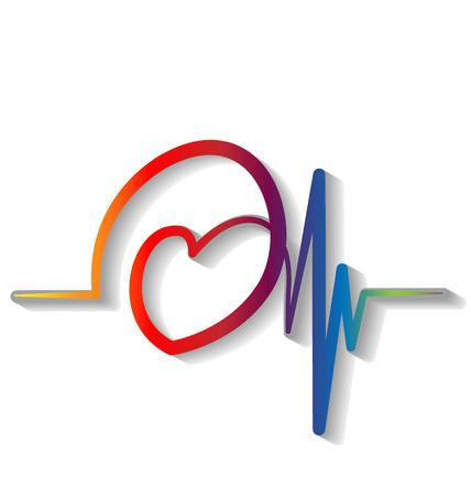 Heartbeat cardiogram icon