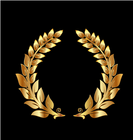 Golden laurel wreath icon