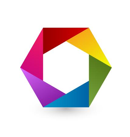 Rainbow hexagon icon