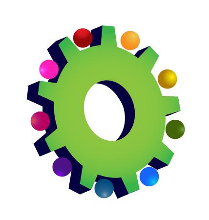 Green gear setting icon