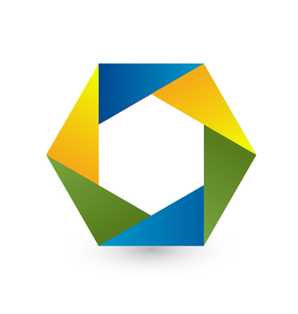 Hexagon business shape icon