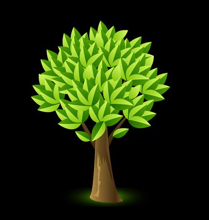 Realistic tree image illustration 일러스트