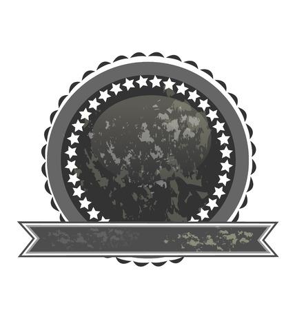 Dark label seal icon
