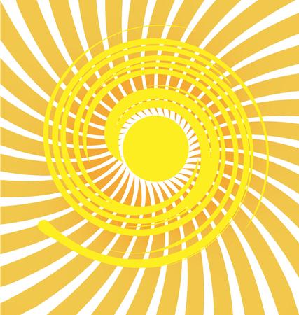 Swirly sun icon background Illusztráció