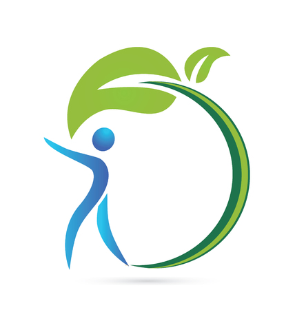 Health nature vector icon identity card