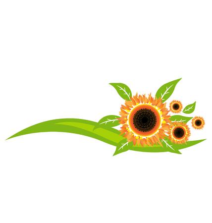 Sunflowers icon decoration vector design