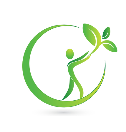 Vector of health nature icon business card 일러스트