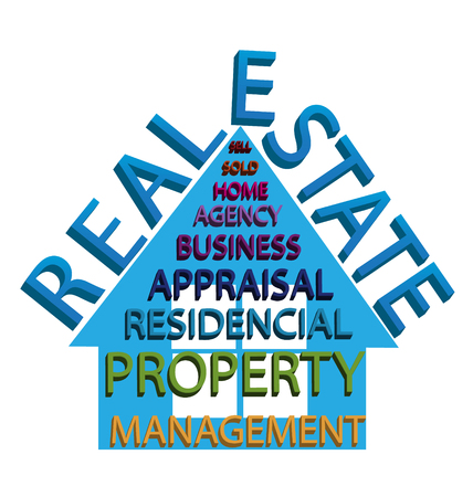 Real estate and words house abstract design icon logo vector Logos