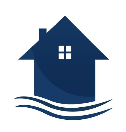 Diseño de vector de tarjeta de visita de casa para bienes raíces