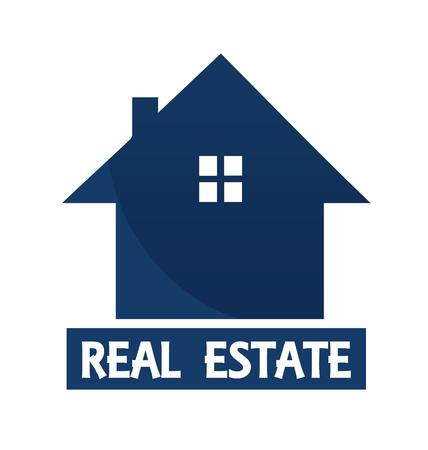 Diseño de vector de tarjeta de visita de casa para bienes raíces Ilustración de vector