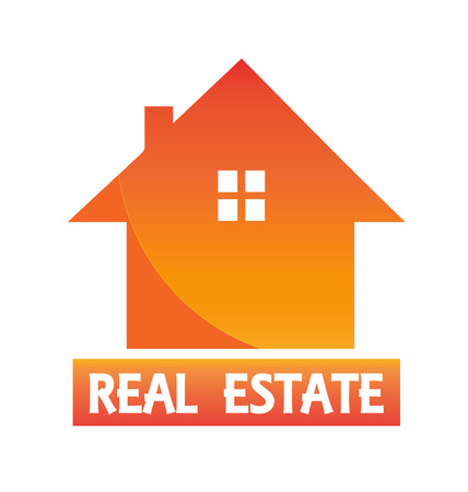 House and sun logo vector