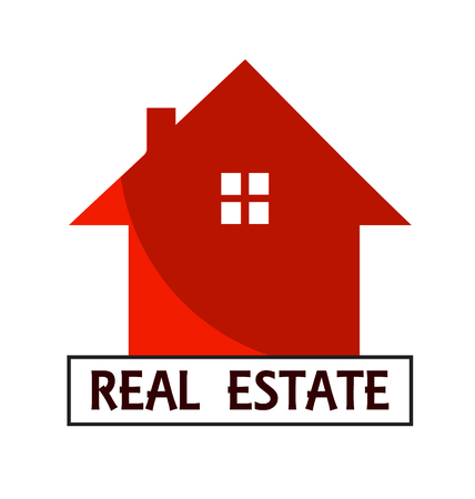 House for Real Estate business card vector design 일러스트