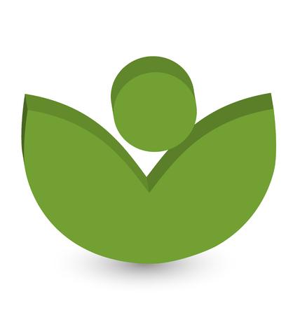 Organic and fresh leafs vector symbol vivid color