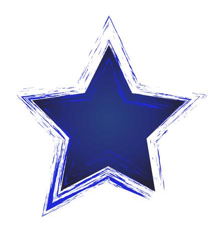 Blue star icon illustration