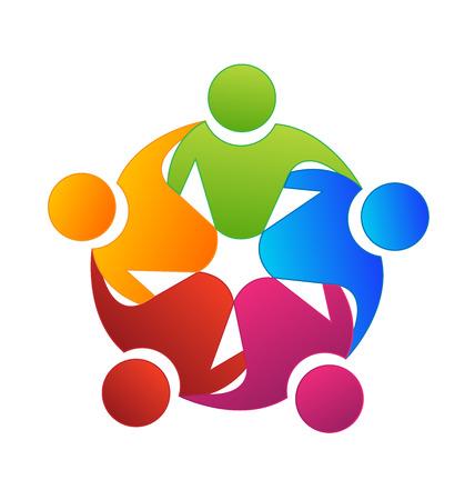 Vector teamwork concept of community icon template Stock Illustratie