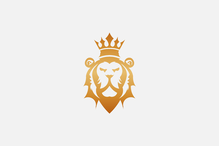 Lion king graphic vector icon