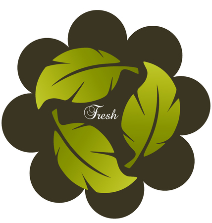 Biological environmental group of leafs icon vector illustration