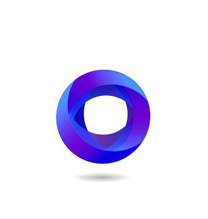 Abstract circle, business icon shape vector Иллюстрация