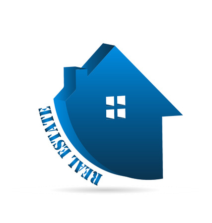 Real estate house isolated icon vector