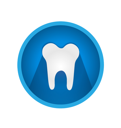 Dental tooth icon vector Illusztráció