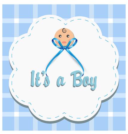 Baby boy gender reveal vector Illustration