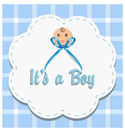 Baby boy gender reveal vector Illustration