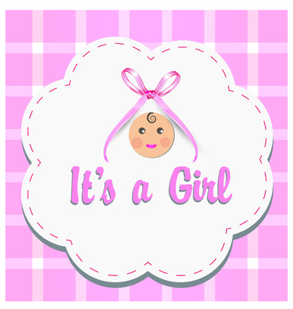 Baby girl gender reveal vector Illustration