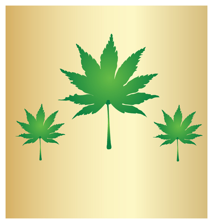 Cannabis Leafs Marijuana Background Vector