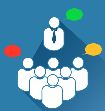 Group business teamwork meeting icon Vectores