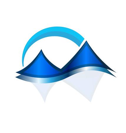 Mountain terrain field isolated icon Ilustração