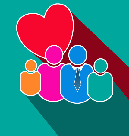Loving family figure people icon Иллюстрация