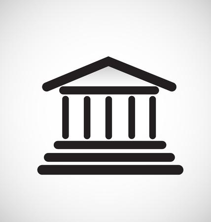 Architecture column building icon
