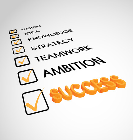 Goal yellow success checklist, icon