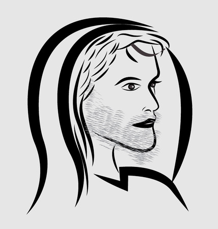 Illustration of a person with a hood vector