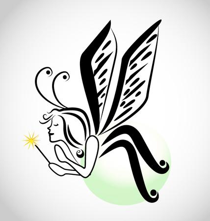 Fairy cartoon icon Illustration