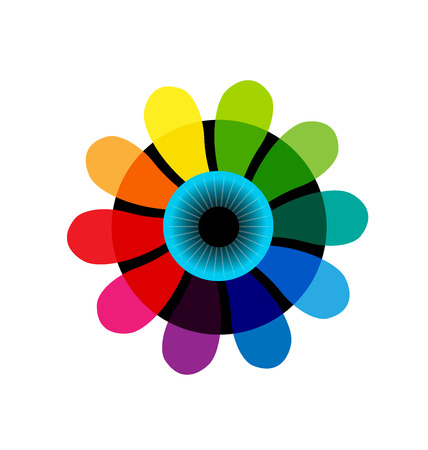 Iris eye multi-colored icon