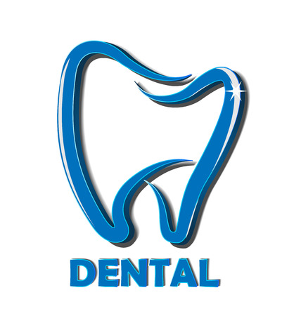 Dental tooth business logo vector icon