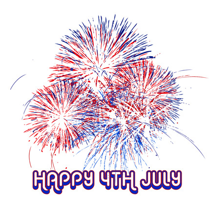 Fireworks, 4th of july vector Illustration