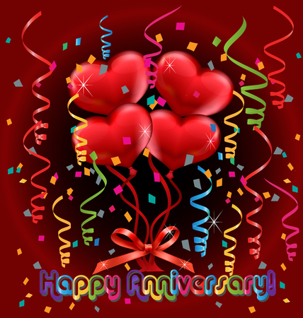 Happy Anniversary card vector