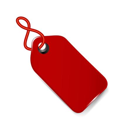 Red price tag icon Vektorové ilustrace