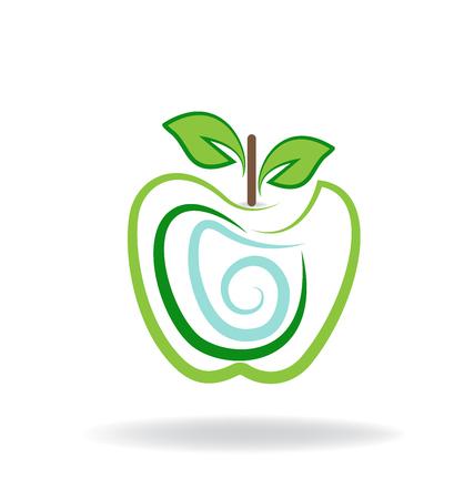 Apple logo graphic illustration vector icon Ilustrace