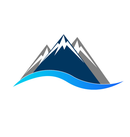 Mointains logo symbol portrait vector Ilustração