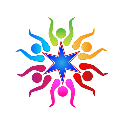 Teamwork Unity Friendship Business People Logo Education Symbol