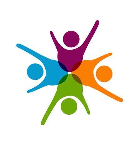 Teamwork people business icon vector illustration.