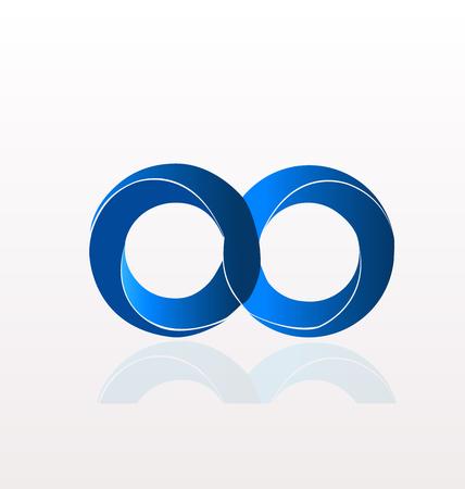 Infinity symbol logo Illustration