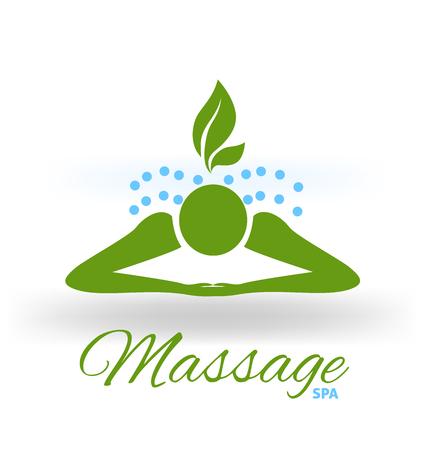 Massage green icon logo vector