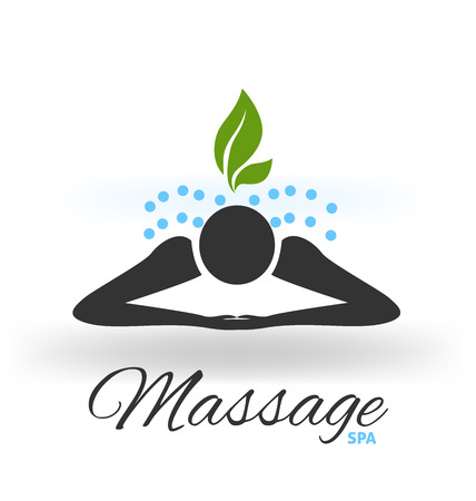 Massage icon logo vector Foto de archivo - 97780602