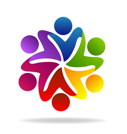 Logo teamwork hug people networking business card graphic design logo teamwork hug people networking business card graphic design stock vector 97751194 colourmoves