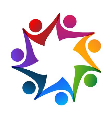 Teamleute-Gruppe des Arbeitskraftlogovektors