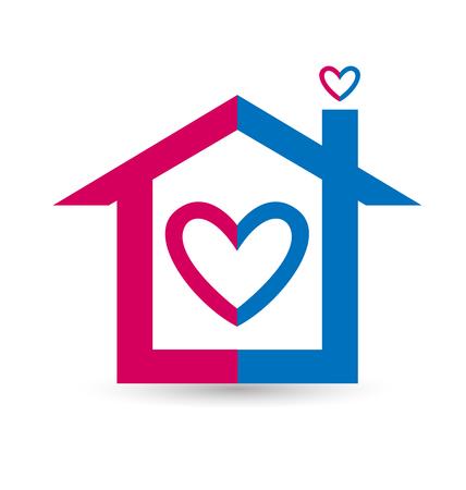 House of love logo vector design Illusztráció
